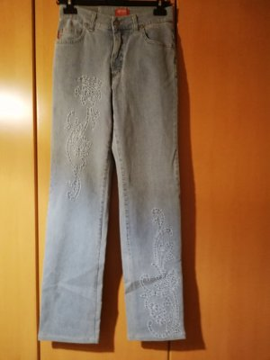 Angels Jeans stretch bleu azur coton