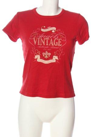 Angels T-shirt rouge imprimé avec thème style décontracté