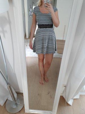 Charlotte Russe Mini Dress black-white polyester
