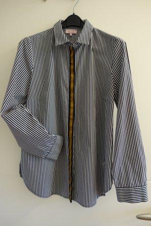 Angenehm zu tragende Sommer-Baumwoll-Hemdbluse, Gr. 40