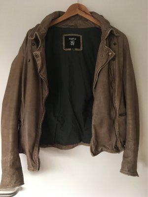 Tigha Leather Jacket beige