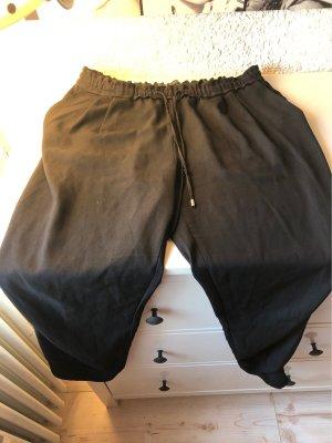 Zara Basic Pantalone peg-top nero