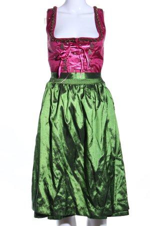 Angermaier Dirndl różowy-zielony Z połyskiem