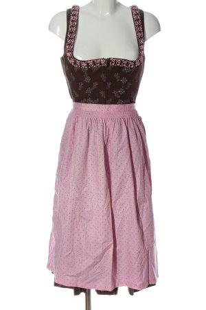Angermaier Dirndl bruin-roze bloemenprint klassieke stijl