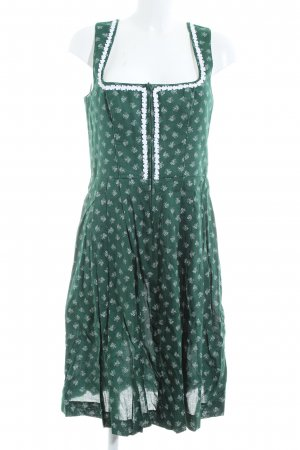 Angermaier Dirndl green-white allover print elegant