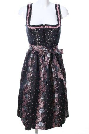 Angermaier Dirndl black-pink flower pattern elegant