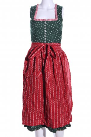 Angermaier Dirndl khaki-red allover print classic style
