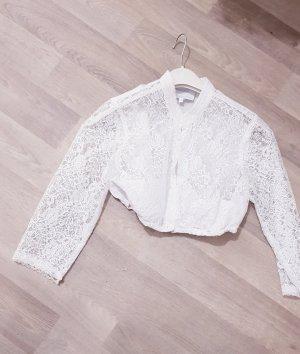Angermaier Kanten blouse wit