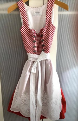 Angermaier Dirndl red-white cotton
