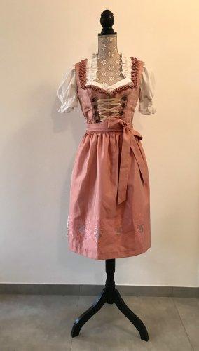 Angermaier Midi-jurk beige-rosé Zijde