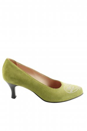Angermaier Pointed Toe Pumps green casual look
