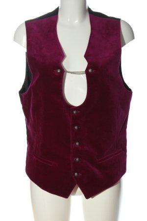 Angermaier Gilet tricoté rose-noir style décontracté