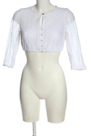 Angermaier Tradycyjna bluzka biały W stylu casual