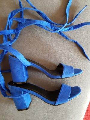 Asos Tacones con cordones azul