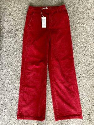 Closed Pantalón de pana rojo ladrillo Algodón