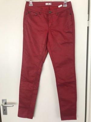 AJC Pantalón de tubo rojo oscuro