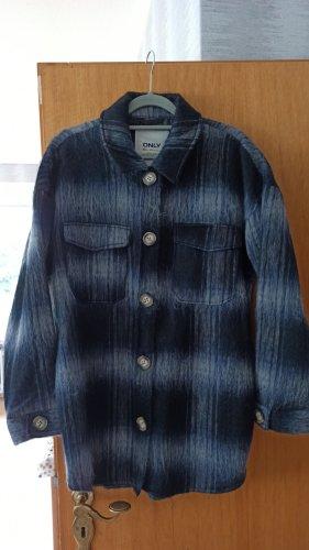 Only Oversized Jacket white-dark blue