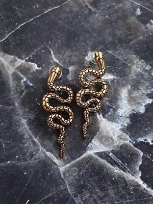 Angesagte Ohrringe Schlange bronze gold serpent