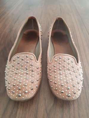 Slip-on Shoes pink-silver-colored leather