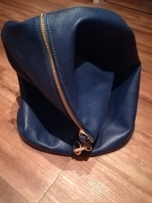 Backpack Trolley blue leather