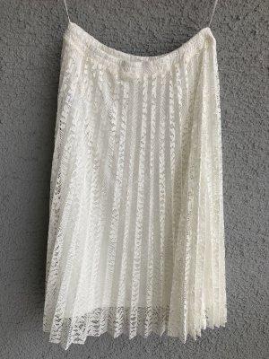 Otto Koronkowa spódnica biały-w kolorze białej wełny