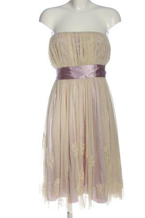 Angie Vestido de baile crema-rosa elegante