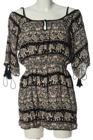 Angie Kurzer Jumpsuit zwart-room volledige print casual uitstraling