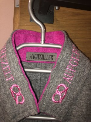 ANGIE MILLER Chaqueta folclórica gris-rosa