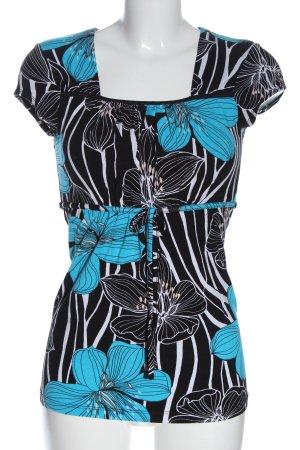 Angie T-shirts en mailles tricotées motif de fleur style décontracté