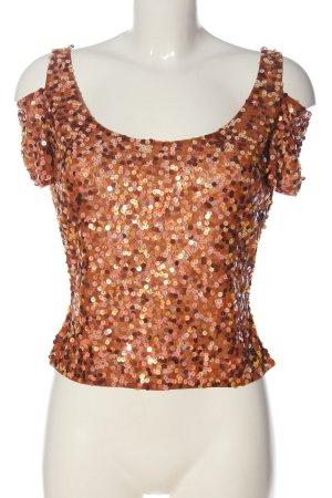 Angie The Event Collection Glanzende blouse licht Oranje glitter-achtig