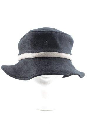 Angiemiller Chapeau en laine noir-blanc style décontracté
