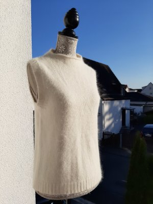 Vicini Fijn gebreide cardigan wit Angorawol