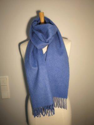 Sciarpa di lana blu fiordaliso