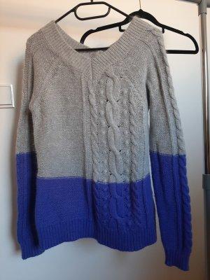 Antoni & Alison Jersey de lana gris claro-azul