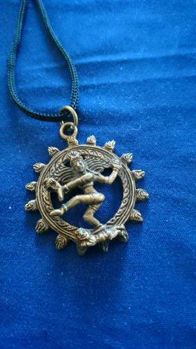Medalik czarny-złoto Metal