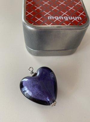 Anhänger für Halsketten, Herz, blau von Manguun, nie getragen