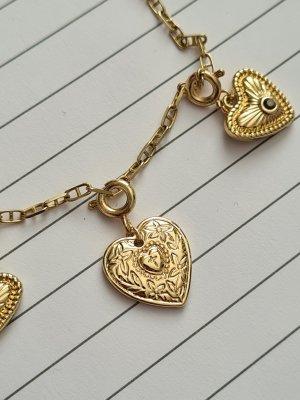 Anhänger Herz vergoldet gold