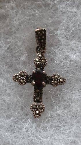 Anhänger Kreuz echtes Silber mit Edelstein