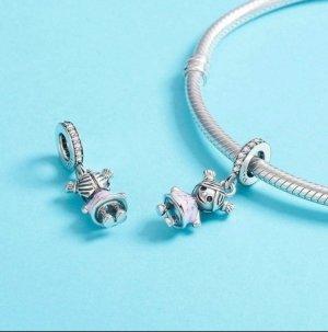 Bracelet en argent argenté-rose