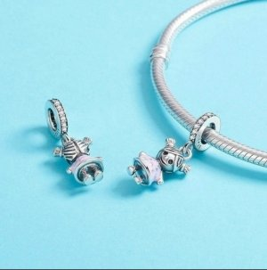 Zilveren armband zilver-roze