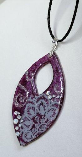 handmade Naszyjnik fiolet-ciemny fiolet
