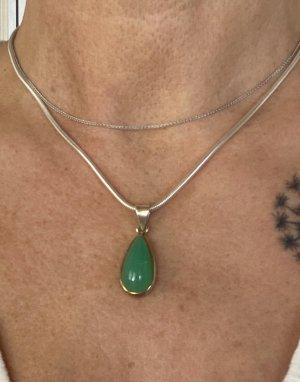 925 Pendente argento-verde