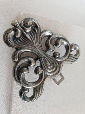 Pendant dark grey-silver-colored