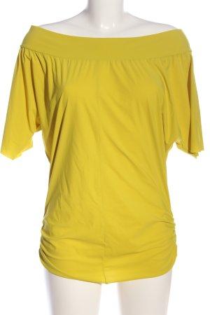 Ania Schierholt Blouse Carmen jaune primevère style décontracté