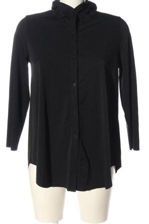 Ania Schierholt Hemdblouse zwart zakelijke stijl