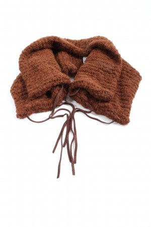 Ania Schierholt Tube Scarf brown casual look