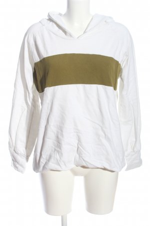 Ania Schierholt Sweat Shirt white-khaki striped pattern casual look