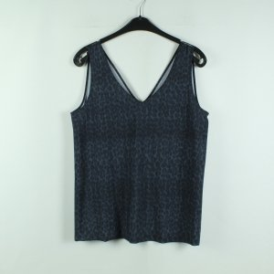 Ania Schierholt Blouse Top dark blue-steel blue polyamide