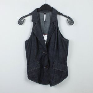 Ania Schierholt Denim Vest dark blue cotton