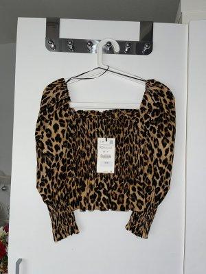 Animal-Print Bluse von Zara